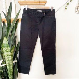 White House Black Market black ankle cropped jeans
